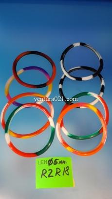 Силиконовый браслет цветной 5мм