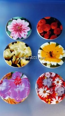 """Магнит керамический """"Цветы"""" 6.5см"""