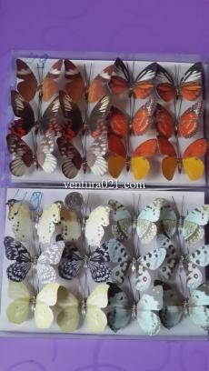 Бабочка на прищепке натуральная