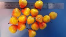 """Декоративная фрукта """"Груша жёлтая с красным бочком"""""""