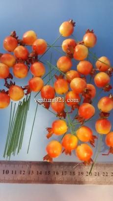 """Декоративные фрукты маленькие со шпажкой """"Гранат"""""""