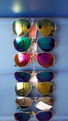 Очки солнцезащитные авиаторы с зеркальными стёклами