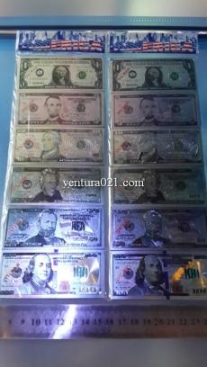 Магнит на холодильник в виде банкноты доллара