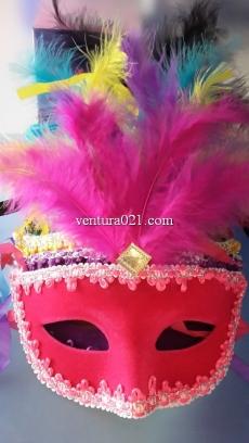 Маска карнавальная с перьями