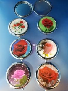 Зеркало складное с цветами