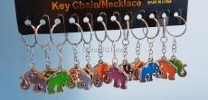 Брелок для ключей в виде цветного слоника