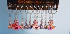Брелок для ключей в виде грациозного лебедя
