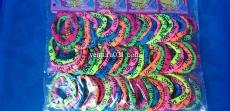 """Набор цветных резинок для волос  с надписью """"Love"""""""