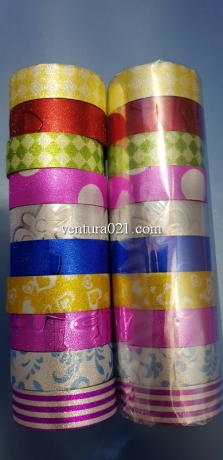 Скотч декоративный цветной ассорти