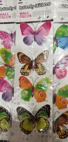 Бабочка декоративная на самоклейке