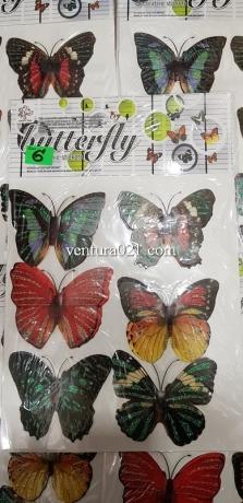 Набор декоративных бабочек на самоклейке