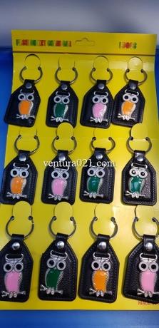 Брелок для ключей из металла в виде совы