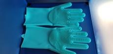 Резиновые перчатки с ворсом
